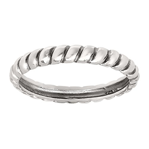 Silpada 'Belle Fleur' Sterling Silver Stack Ring, Size 5 by Silpada