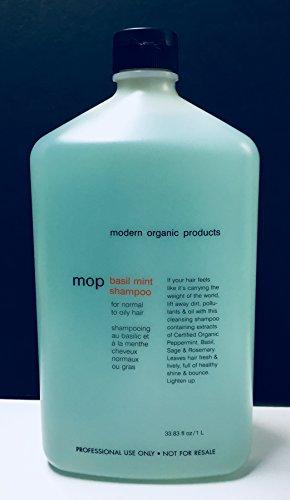 Mop Organic Basil Mint Shampoo 33.83 FL. (Mop Basil Mint)