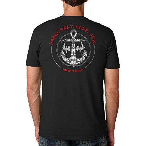 Turtle Salt (SAND.SALT.SURF.SUN. Shark Anchor Cotton Crew Short Sleeve Shirt XXX-Large Black)