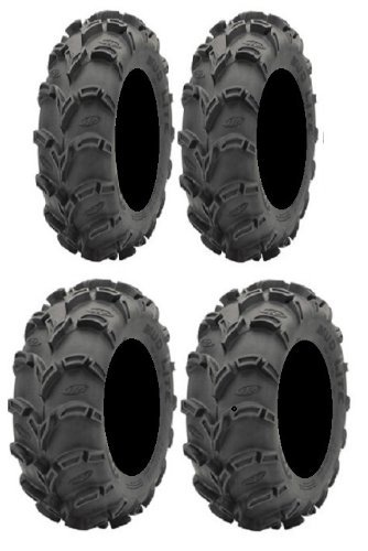 Full set of ITP Mud Lite XL 25x8-12 and 25x10-12 ATV Tires (4)