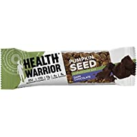12 Count Health Warrior Pumpkin Seed Bars, Dark Chocolate,14.8 oz