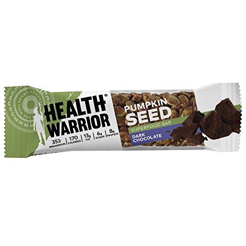 Health Warrior Pumpkin Seed Bars, Dark Chocolate, 12 Count - 14.8 oz