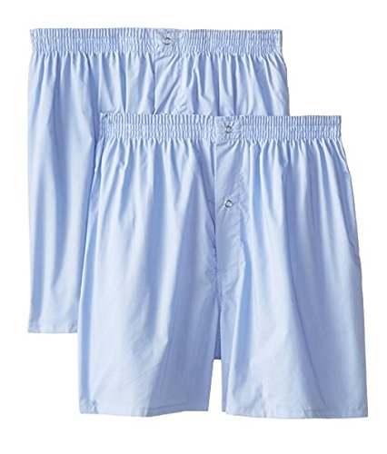 Munsingwear Men's 2-Pack Gripper Woven Boxer,Light Blue,2x