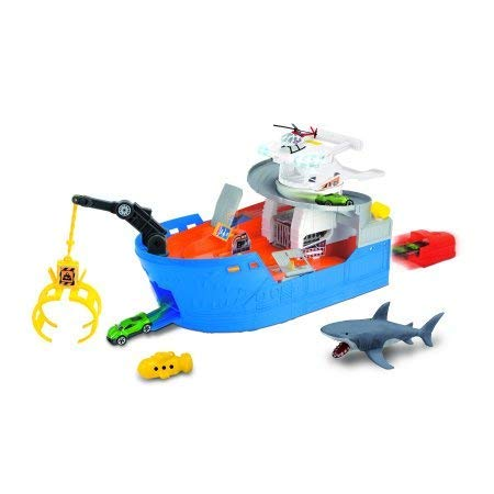 - Adventure Force Light and Sound Shark Ship Playset Crane, Submarine Squirter, Light and Sound Action