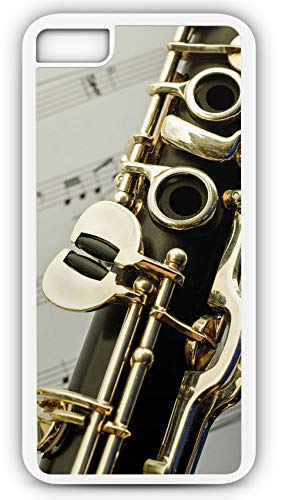 Shrimp Peppers Bell - iPhone 8 Plus 8+ Case Clarinet Single Reed Mouthpiece Flared Bell Customizable by TYD Designs in White Plastic