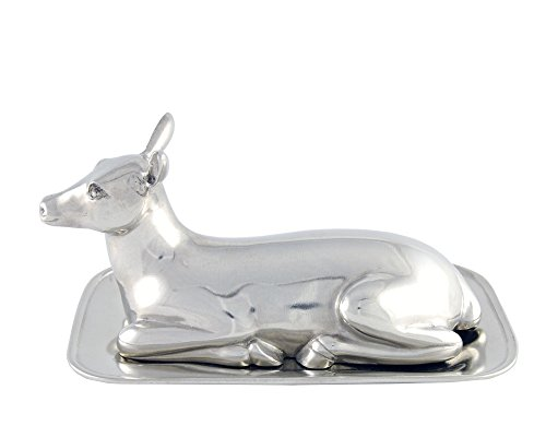 Vagabond House Pewter Doe/Deer Butter Cream Cheese Dish 8