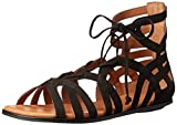 Gentle Souls Women's Break My Heart 3 Gladiator Sandal, Black, 6.5 M US