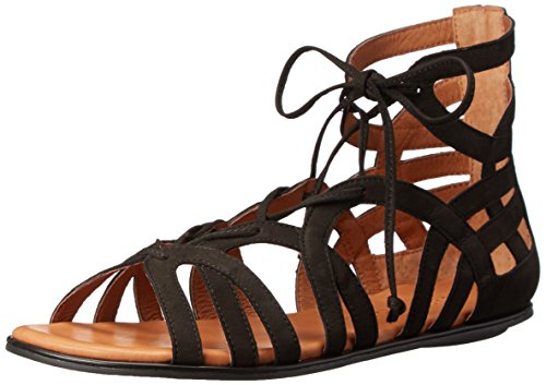 Gentle Souls Women's Break My Heart 3 Gladiator Sandal, Black, 6.5 M US by Gentle Souls