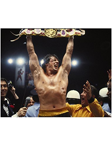 Sylvester Stallone As Rocky Balboa Holding Championship Belt 8 x 10 Inch Photo