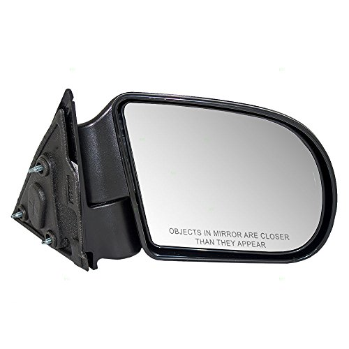 Passengers Manual Side View Mirror Textured Replacement for Chevrolet GMC Isuzu Pickup Truck SUV 15172864