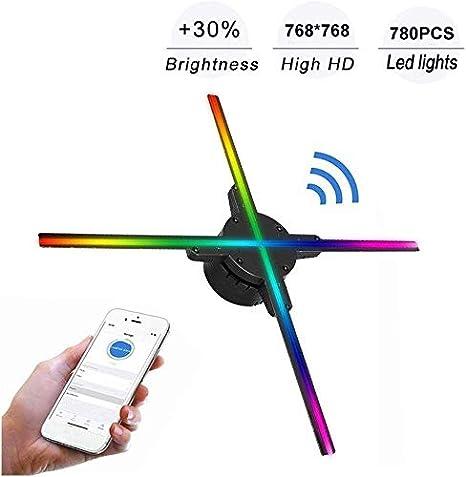 Hppbody 768P WiFi 3D Proyector Holográfico Universal Portátil ...