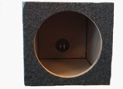 CAR AUDIO SINGLE 8 INCH SUB BOX WOOFER SUBWOOFER SEALED ENCLOSURE CARPETED