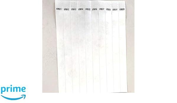 abc23bca9de6 Lote de 100 pulseras papel Tyvek 19 mm para eventos