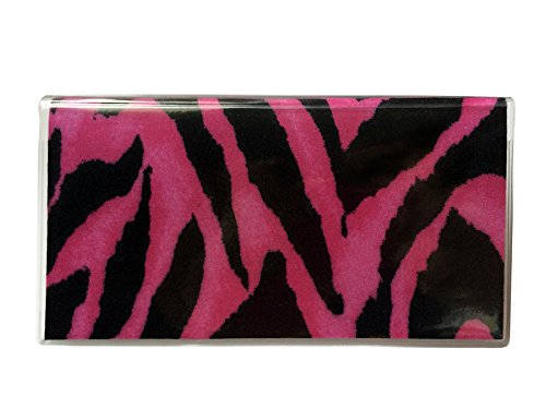 Tickled Pink Boutique Women's Zebra Checkbook Cover Pink
