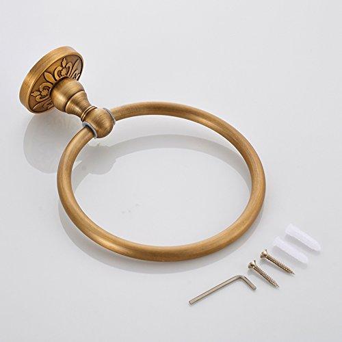 ZUOANCHEN Towel Ring European Bathroom Luxury Aluminium Oxide Towel Ring, Bathroom Towel Ring, Hotel Bathroom by ZUOANCHEN Towel Rings (Image #3)