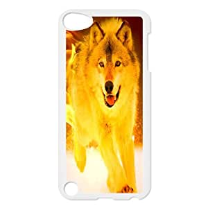 Fire Wolf DIY Durable Hard Plastic Case Cover LUQ215046 For Ipod Touch 5