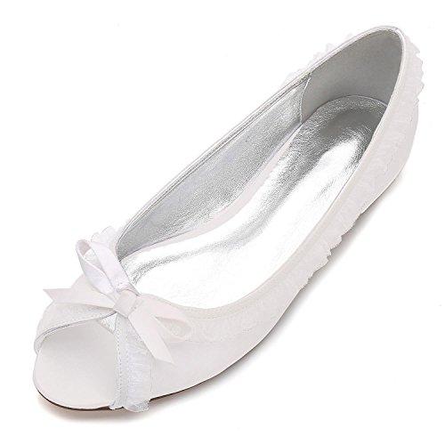 L@YC Zapatos De La Boda De Las Mujeres De Encaje Peep Toe Marfil TamañO Party Party Pumps/Court Shoes / F5049-18 Ivory