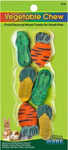 Wood Chew Toy Corn - Ware Manufacturing Wood Vegetable Small Pet Chew - Pack of 6