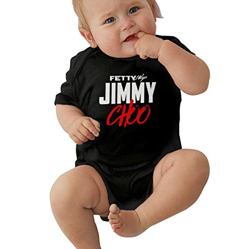 PhilipPVergara Fetty Wap Baby Bodysuit Short Sleeve Jersey Bodysuit Cotton T Shirt 0-24 Months Short Sleeve Babys Bodysuit Unisex Baby Clothes Black