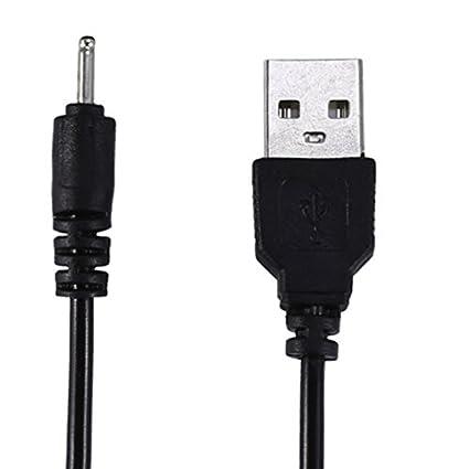 Keple | 60cm / 1.2ft USB Cargador de Cable Compatible con NOKIA C1 00, C2 01, C2-02, C3 01 Touch and Type, C5, C6 (Pin Pequeño)