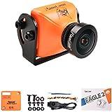 RunCam Eagle 2 FPV Camera 4:3 Global WDR 800TVL 2.5mm Lens Aluminium NTSC PAL True Starlight For Drone Quadcopter (Orange)