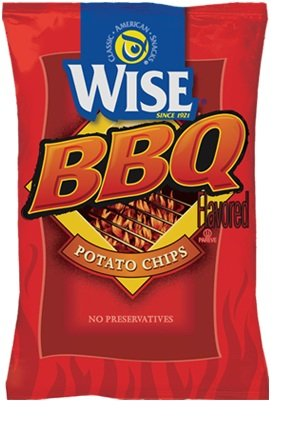 Wise BBQ Potato Chips, 1.25-Oz Bags (Pack of 36)