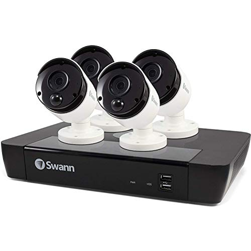 Swann 8 Channel NVR with 2TB Hard Drive & 4X 5MP Pir IP Cameras Expandable Surveillance System