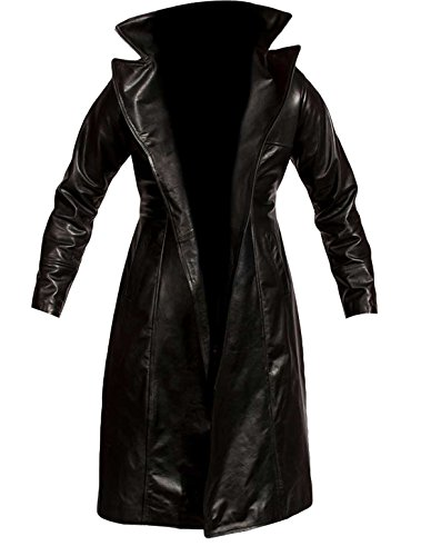 Brandon Lee The Crow Eric Draven Black Leather Trench Coat Costume