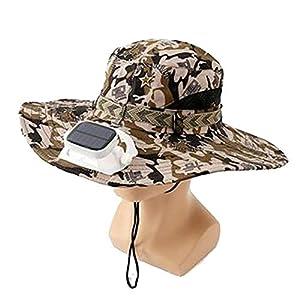 ANHPI Doble Solar Sombrero del Ventilador Masculino Verano al Aire Libre Protector Solar Anti-Ultravioleta Grandes Aleros Respirable Sombra Tapa de Pescador Casquillo de los Deportes 4 Colores