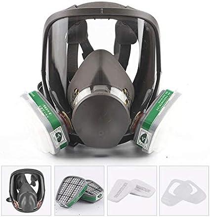 ONEWDJ, máscara de gas de cara completa, protección ocular, protección respiratoria, máscara de polvo industrial, amplio campo de visión, utilizada para protección diaria, caja de filtro No. 4