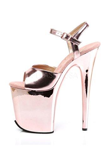 809 Donna Pu Flamingo Rose Chrome Sandali Gold Gold Pleaser Rose Met C0qtU5wUnx