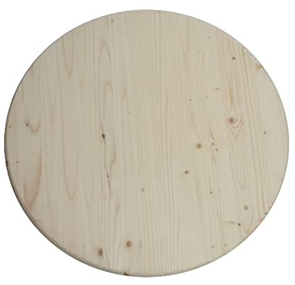 Allwood X Round Table Top Pine Round Panel Wood - Prefab wood table tops