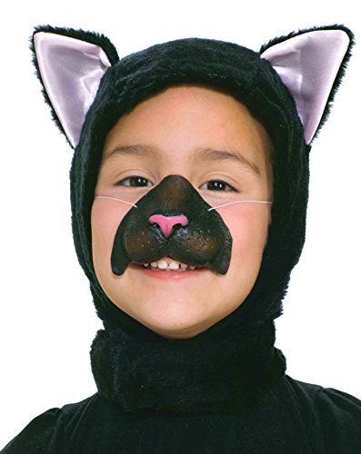 Cat Feather Mask - Forum Novelties Child Size Animal Costume  Black Cat Hood and Nose Mask