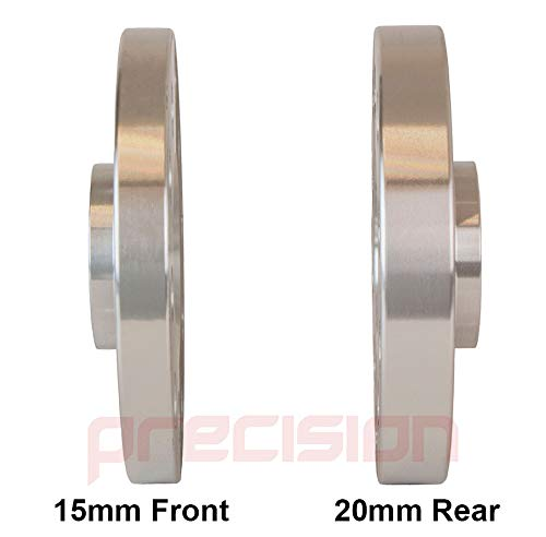 2PHS1+2PHS2+10BM1440R+10BM1445R122 Bolts for Genuine /Àudi A4 Alloy Wheels Part No Staggered Fitment Hubcentric Wheel Spacers 15mm//20mm