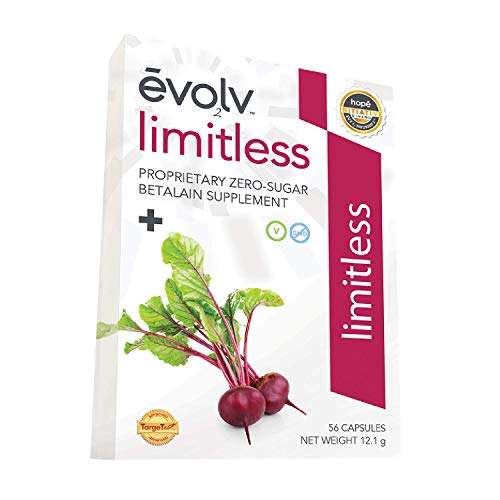Evolv Health, Betalains Supplement from Pure Beet Root Extract, Energy & Joint Flexibility Support, Zero Sugar, Zero…