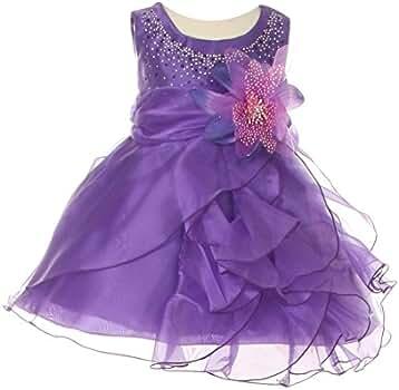 261e978456bf Amazon.com  Cinderella Couture Baby Girls Purple Crystal Organza ...