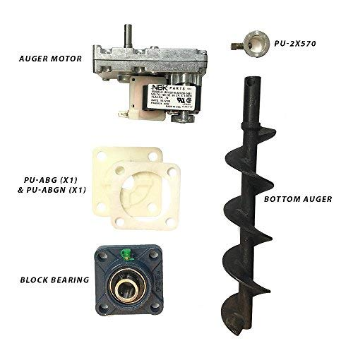 Englander Pellet Stove Bottom Auger Feed System Kit Including Auger Motor, Shaft, Bearings and More by SP4L