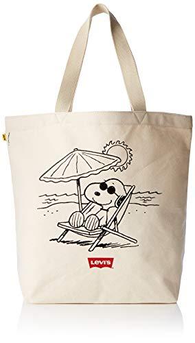 Levi's - Peanuts Snoopy Beach Tote, Unisex adulto, Beige (Écru), 39x14x30 cm (W x H L)