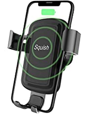 Squish Wireless Charger Car Phone Mount Air Vent Phone Holder for iPhone Xs MAX/XR/XS/X/8/8 Plus and for Samsung Galaxy Note 9/S9/S9 Plus/Note 8/S8