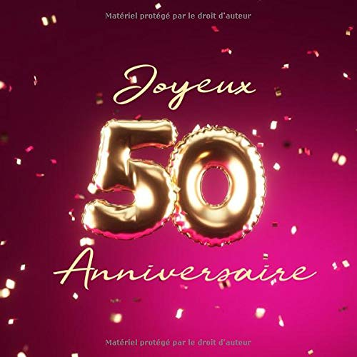 Pour une merveilleuse fille sur votre 50th Carte d/'anniversaire-Motif Floral JJ