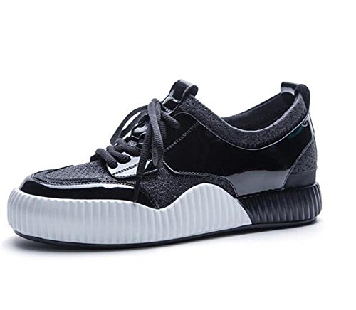 40 Scarpe Fitness da Up Running donna ginnastica Size Platform 35 Black To Lace Scarpe da Sneakers t60q6n