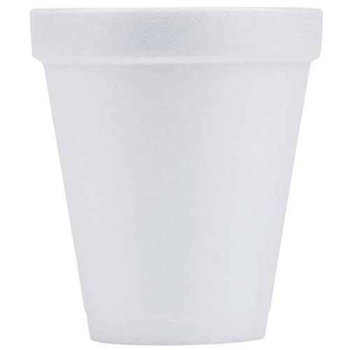 Dart Handi-Kup Insulated Styrofoam Cups, 6 Oz, White, Box Of 1,000 Cups (Dart Foam Insulated)