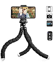 "Selfie Stick Tripod, UBeesize 51"" Extendable Tripod Stand with Bluetooth Remote for Phone, Heavy Duty Aluminum, Lightweight"