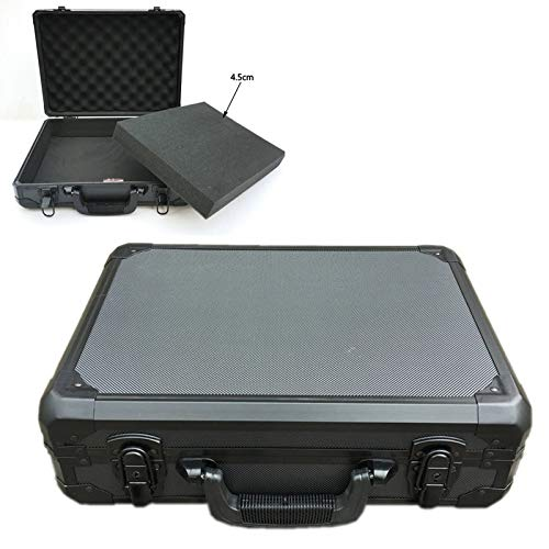Portable Aluminum Tool Box Equipment Tool Safety Case with Pre-cut Foam Lining