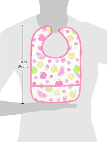 Luvable Friends 4-Pack Water Resistant Bibs with Pocket, Blue