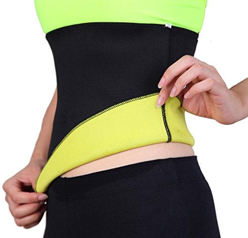 Price comparison product image SLTY Women & Men's Sports Hot Thermo Sweat Neoprene Shapers Tummy Slimmer Sauna Belt For Weight Loss Body Shapewear