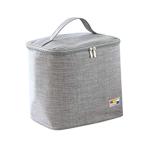 Bazahy Lunch-Box Bag Lady's Handbag Heat Preservation Bag Thermal Insulated Lunch Box Tote Cooler Bag Bento Pouch Lunch Container