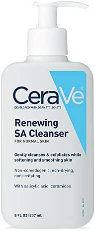 CeraVe Renewing SA Cleanser For Normal Skin| 8 Ounce |Gently cleanses & exfoliates while softening & smoothing skin