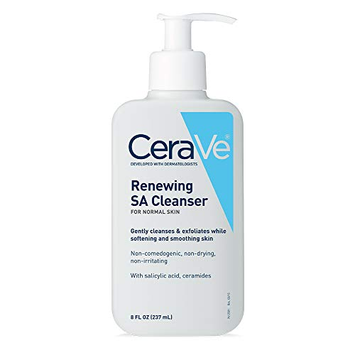 Best CeraVe Salicylic Acid Cleanser | 8 Ounce | Renewing Exfoliating Face Wash with Vitamin D for Rough and Bumpy Skin | Fragrance Free