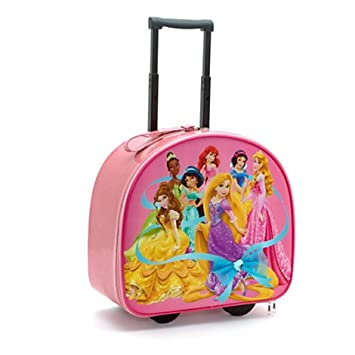 ee9bc1edb521 Disney Princess Pink pull along Trolley holiday or school Bag for ...